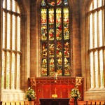 Stained glass window, St. Michael's Parish Church, Linlithgow, Scotland