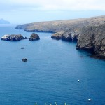 A view of the northeastern coast of Santa Cruz Island
