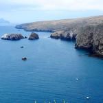 A view of the northeastern coast of Santa Cruz Island