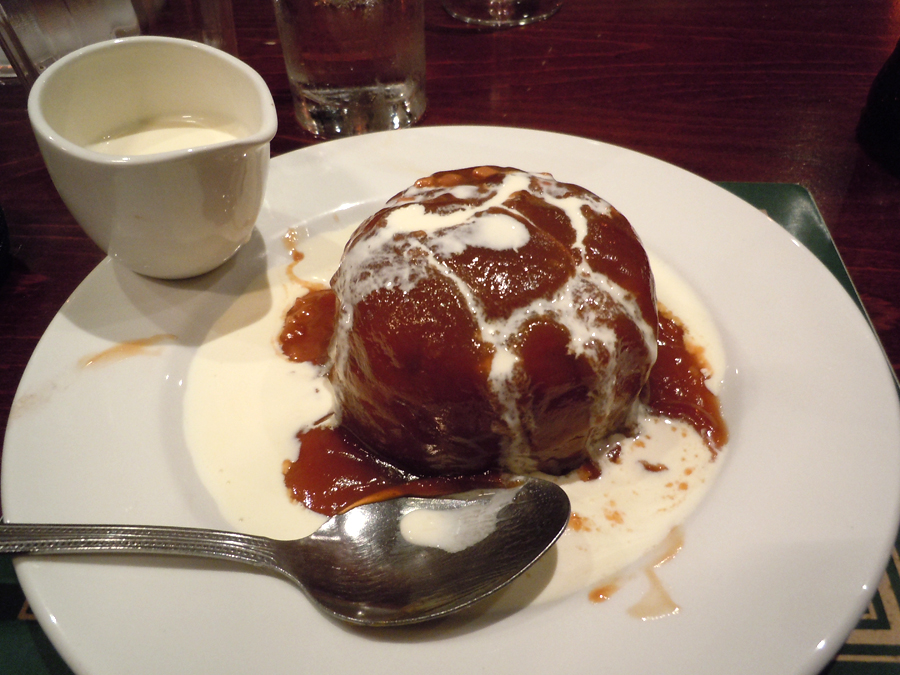 Sticky Toffee Pudding at The Four Marys, Linlithgow, Scotland